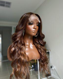 Ginger Brown  Available online   #colouredwig #humanhairwigmelbourne #melbournevirginhair